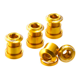 Reverse Chainring bolts gold